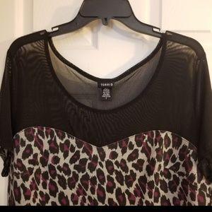 torrid Tops - Torrid sheer shoulders black top